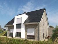 Einfamilienhaus neubau satteldach klinker  Massivhaus Massivhäuser KfW 55 KfW 70 Effizienzhaus ...