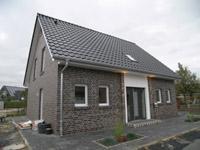 Einfamilienhaus neubau satteldach klinker  Energiesparhaus Niedrigenergiehaus Effizienzhaus Massivhaus
