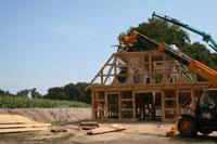 Neubau eines fachwerkhauses mit reetdach und w rmepumpe in for Aufbau fachwerkhaus