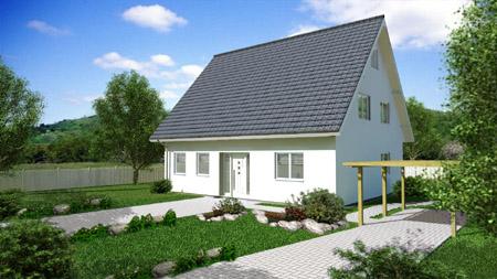Einfamilienhaus bauen massives haus bauen lotte for Haus bauen muster
